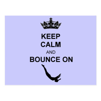 Keep Calm and Bounce Trampoline Postcard