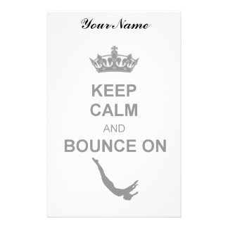 Keep Calm and Bounce Trampoline Stationery Paper
