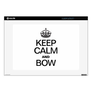 KEEP CALM AND BOW LAPTOP SKINS
