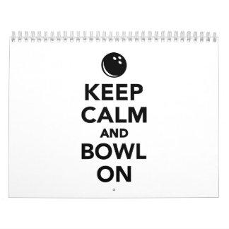 Keep calm and bowl on calendar