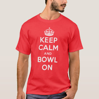 """Keep Calm and Bowl On"" Coloured T-shirt (Men's)"