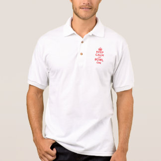 """""""Keep Calm and Bowl On"""" Polo Shirt"""
