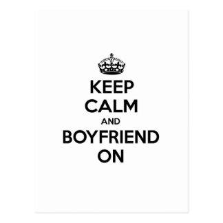 Keep Calm and Boyfriend On Postcard