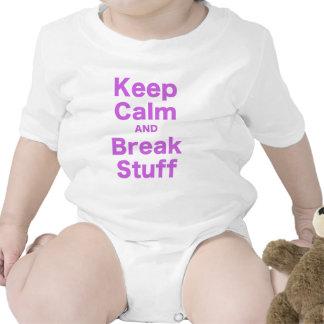 Keep Calm and Break Stuff Tees