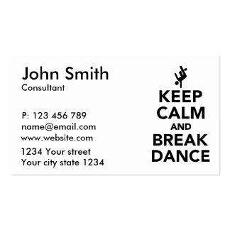 Keep calm and Breakdance Business Card