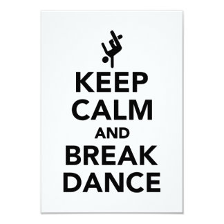 Keep calm and Breakdance Card
