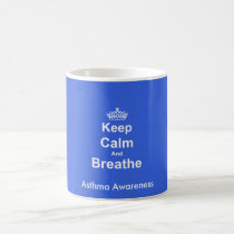 Keep Calm and Breathe Asthma Awareness Mug