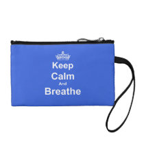Keep Calm and Breathe Asthma Awareness Wristlet