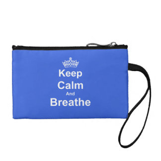 Keep Calm and Breathe Asthma Awareness Wristlet