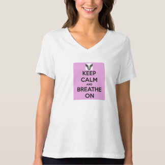 Keep Calm and Breathe On Women's T-Shirt