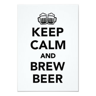 Keep calm and brew beer card