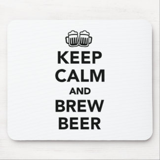 Keep calm and brew beer mouse pad