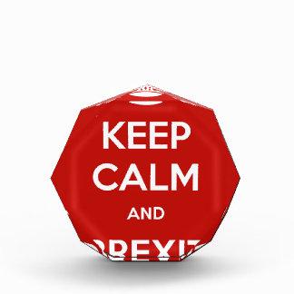 Keep Calm and Brexit Acrylic Award