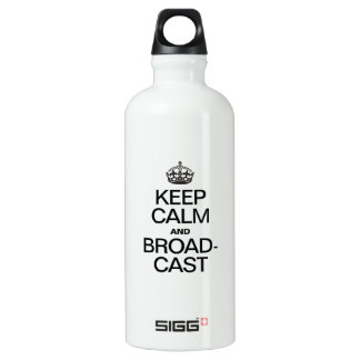 KEEP CALM AND BROADCAST SIGG TRAVELER 0.6L WATER BOTTLE