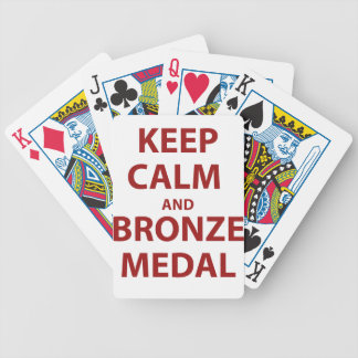 Keep Calm and Bronze Medal Bicycle Playing Cards