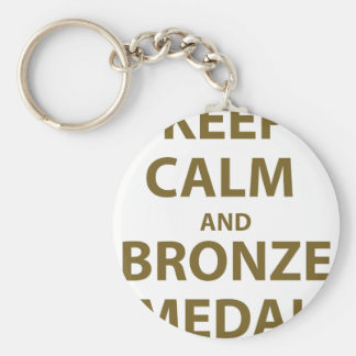Keep Calm and Bronze Medal Keychain