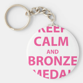 Keep Calm and Bronze Medal Keychains