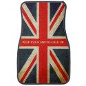 Keep Calm And Buckle Up Custom Union Jack Car Mats Car Mat