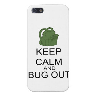 Keep Calm And Bug Out Case For iPhone SE/5/5s
