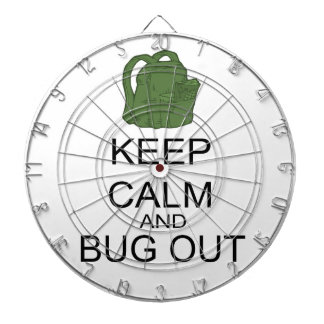 Keep Calm And Bug Out Dart Board