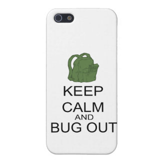 Keep Calm And Bug Out iPhone SE/5/5s Cover