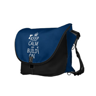 Keep Calm and Build On (any background color) Courier Bag
