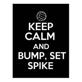 Keep Calm and Bump, Set, Spike Post Card