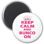 Keep Calm and Bunco On Design 2 Inch Round Magnet
