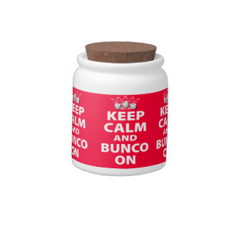 Keep Calm and Bunco On Design Candy Dishes