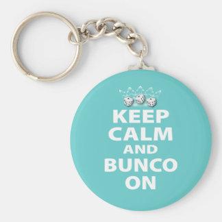 Keep Calm and Bunco On Design Keychain
