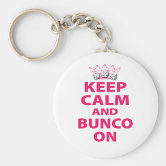 Keep Calm and Bunco On Design Keychain