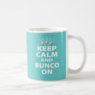 Keep Calm and Bunco On Design Classic White Coffee Mug