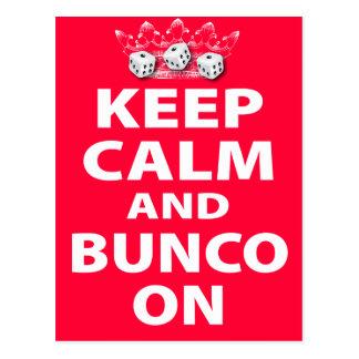 Keep Calm and Bunco On Design Postcard