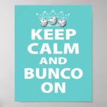 Keep Calm and Bunco On Design Poster