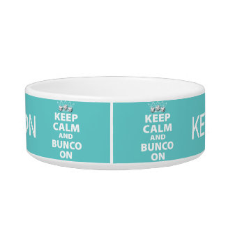 Keep Calm and Bunco On Snack Bowl