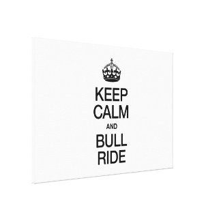 KEEP CALM AND BUNGEE JUMP STRETCHED CANVAS PRINT