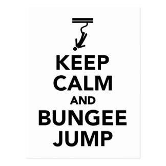 Keep calm and bungee jump postcard