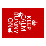 Keep Calm and Bunny On - all colors Business Card Templates