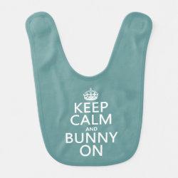 Baby Bib with Keep Calm and Bunny On design