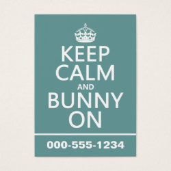 Chubby Business Cards (100-pack) with Keep Calm and Bunny On design