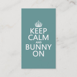 with Keep Calm and Bunny On design