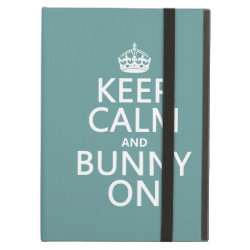 iPad Air Powis Case with Keep Calm and Bunny On design