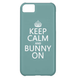 Case-Mate Barely There iPhone 5C Case with Keep Calm and Bunny On design