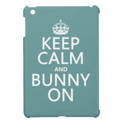 Case Savvy iPad Mini Glossy Finish Case with Keep Calm and Bunny On design