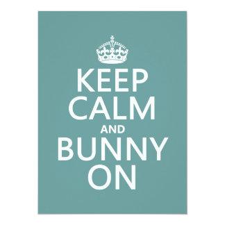 Keep Calm and Bunny On (customisable) 5.5x7.5 Paper Invitation Card