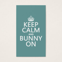 Business Card with Keep Calm and Bunny On design