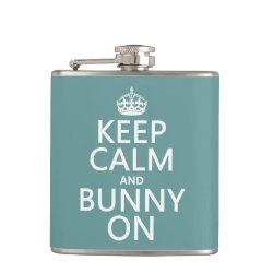 Vinyl Wrapped Flask, 6 oz. with Keep Calm and Bunny On design