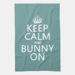 Kitchen Towel 16' x 24' with Keep Calm and Bunny On design