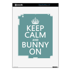 Amazon Kindle DX Skin with Keep Calm and Bunny On design