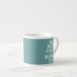 Keep Calm and Bunny On Espresso Cup